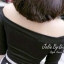 Jolie by D-Sai ชุดเซ็ทเสื้อแขน 3 ส่วน กระโปรงลายทางขาวดำ thumbnail 6