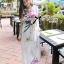 Lady Ribbon Mix Orchid Printed Chiffon Maxi Dress thumbnail 2
