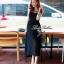 Lady Ribbon แม็กซี่ชีฟองสีดำ อกพลีท ช่วงบนซีทรู หลังเว้า thumbnail 2