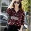 Lady Ribbon Leopard Print Shirt เชิ้ตพิมพ์ลายเสือ thumbnail 2
