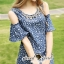 Seoul Secret Star Star Denim Dress thumbnail 4