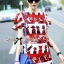 Lady Ribbon Lady Olive Playful Graphic Print Mini Dress thumbnail 1