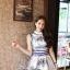 Lady Ribbon Givenchy Print Mini Dress มินิเดรสผ้าซิลค์พิมพ์ลาย thumbnail 5