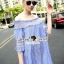 Seoul Secret Sweepy Smocking Chic Dress thumbnail 3