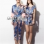 Lady Ribbon Blue Floral Printed Jumpsuit thumbnail 3