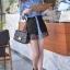 Sweet Blue Shirt เสื้อตัวยาว สีฟ้า ตัดต่อผ้าลูกไม้ช่วงหลังและกระโปรง thumbnail 4