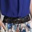 ชุดเซ็ตเสื้อผ้าชีฟองแต่งผ้าลูกไม้ กางเกงผ้าฝ้ายลายดอกไม้ Size M,L thumbnail 7