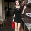 Sexy Black Dress เดรสสีดำ ตัดต่อผ้าตาข่ายที่แขน thumbnail 1