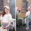 เสื้อผ้าฝ้ายสีขาว ปักฉลุ ยางยืดช่วงคอและแขน thumbnail 8