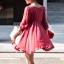 เสื้อผ้าฝ้ายสีแดง มีสายเชือกไขว้ที่อก แต่งไหมพรมถัก thumbnail 7