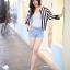 Chic Black n White Striped Jacket thumbnail 3