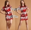 Lady Ribbon Lady Olive Playful Graphic Print Mini Dress thumbnail 6