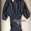Lady Ribbon Polkadot Dress เดรสกระโปรงระบายลายจุด thumbnail 11