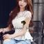 Seoul Secret เสื้อลูกไม้ทอลายดอกเดซี่เล็กๆ thumbnail 4