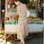 Lady Ribbon Colourful Chiffon Pleated Maxi Dress thumbnail 6