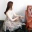 Lady Ribbon Vintage Dress เดรสชีฟอง ดีเทลหลังซีทรู thumbnail 8