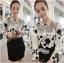 Lady Ribbon Elegant Monochrome Embroidered Lace Dress thumbnail 4