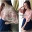 Lady Ribbon เสื้อผ้าคอตตอน สีชมพู ขาว กรมท่า ปักลายดอกไม้ thumbnail 6