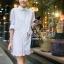 White Lace Mini Dress Shirt by Seoul Secret thumbnail 1