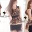 Seoul Secret เสื้อชีฟองลายเสือ แต่งระบายผ้าแก้ว thumbnail 11