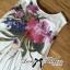 Lady Ribbon Mix Orchid Printed Chiffon Maxi Dress thumbnail 11