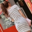 Lady Ribbon Lady Cherline Smart Casual Striped Lace Dress thumbnail 4