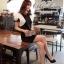 VALENTINO Queen ฺBlack Dress เดรสดำ แต่งแขนกุหลาบขาว thumbnail 1