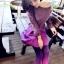 Lovely Purple Set ชุดเสื้อไหมพรม พร้อมกระโปรงสั้น ผ้ากำมะหยี่ สีม่วง thumbnail 5