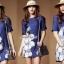 Seoul Secret Blue Denim Lace Furnish Dress thumbnail 2
