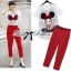 Lady Ribbon Girl Printed Top and Red Pants Set thumbnail 1