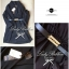 Lady Ribbon ชุดเดรสสม็อคเอว ขาว/ดำ ขายพร้อมเข็มขัด thumbnail 10