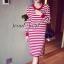 Seoul Secret Korea Chicly Stripe Maxi Knit thumbnail 2