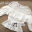 Lady Ribbon เสื้อแขนยาวผ้าลูกไม้ตัดต่อผ้าคอตตอนสุดหวาน thumbnail 7