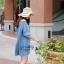 Icevanilla Dress เดรสยีนส์ แต่งลายปักดิ้นทอง thumbnail 8