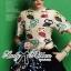 Lady Ribbon Set ชุดเซ็ตเสื้อพิมพ์ลายนกฮูก กางเกงขาสั้นเอวสูง thumbnail 3