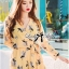 Lady Ribbon Sexy Flowery Printed Rope Jumpsuit thumbnail 2