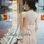 Lady ribbon เดรสชีฟองเว้าหลัง ผูกโบว์ สีดำ สีครีม thumbnail 1