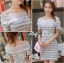 Lady Ribbon Lady Cherline Smart Casual Striped Lace Dress thumbnail 5