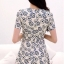 Icevanilla Floral Pearl & Diamond Print Dress thumbnail 8