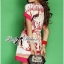 Lady Ribbon Pink Illustrated Printed Mini Dress with Belt thumbnail 3
