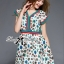 Lady Ribbon Colorful Flower Printed Viscose Dress thumbnail 3
