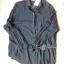 Lady Ribbon Sassy Shirt เสื้อเชิ้ตแขนยาว ตัดต่อผ้าตาข่าย ซีทรู สีขาว+สีดำ thumbnail 10