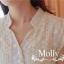 Molly เดรสลูกไม้ซีทรู แต่งลายลูกไม้รอบตัว thumbnail 8