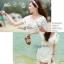 Lady Ribbon Lace V collar blouse เสื้อปักฉลุตัวยาวคอวี thumbnail 10