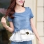 Seoul Secret Pearl Denim Set Chiffon Layer thumbnail 2