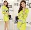 Lady Ribbon Eastern Blossom Print Dress in Green thumbnail 1