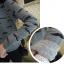 เสื้อแขนยาว ผ้า Cotton พิมพ์ลายหนวด Mustache สีขาว สีเทา thumbnail 4