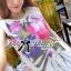 Lady Ribbon Mix Orchid Printed Chiffon Maxi Dress thumbnail 4