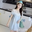 IceVanilla Mona Lace Stitch Soft Denim Dress thumbnail 1