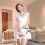 Lady Ribbon White Blossom Embroidery Gala Mini Dress thumbnail 1
